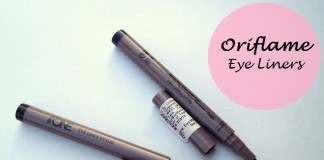 Oriflame The One Eyeliner Stylo Black and Blue Reviews Swatches blog