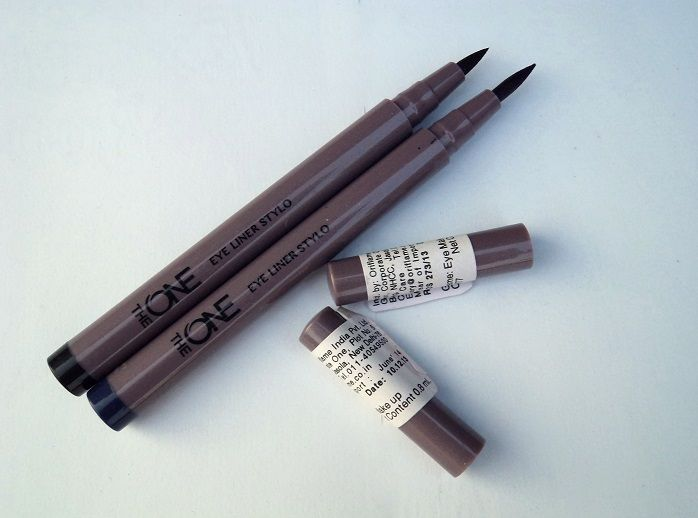 Oriflame The One Eyeliner Stylo Black and Blue Reviews Swatches india