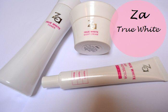 Za True White Day Protector True White ex Toner night cream reviews