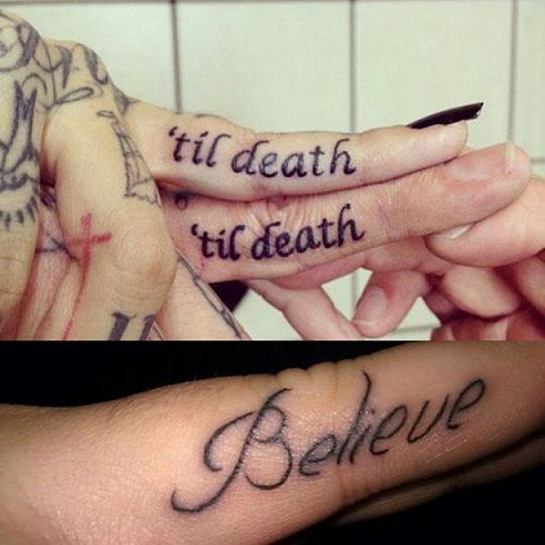 best finger tattoo design with meaningful quotes phrases