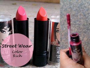 street wear color rich ultra moist lipstick megashine lipgloss reviews swatches blog