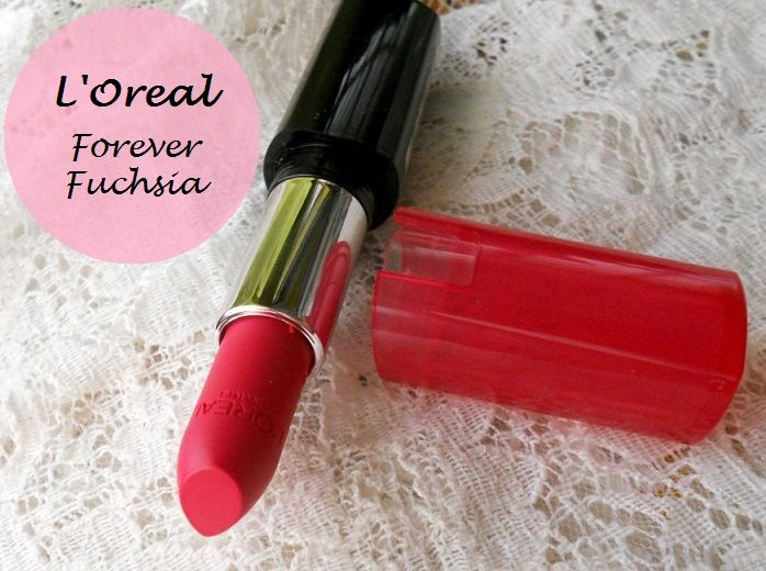 LOreal Paris Infallible Le Rouge Lipstick Forever Fuchsia review swatches india