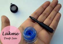 Lakme Absolute Gel Addict Liner Deep Sea Review Swatches india