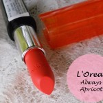 L'Oreal Paris Infallible Le Rouge Always Apricot Lipstick: Review and Swatches