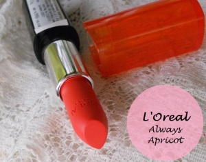 Loreal-Paris-Infallible-Le-Rouge-Lipstick-Always-Apricot-Review-Swatches-price