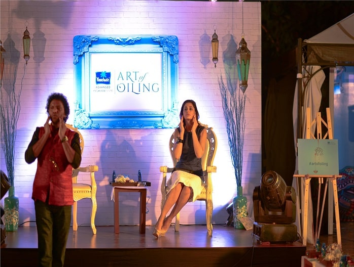 Moses Chundi Nargis Fakhri Parachute Advansed Knowledge Centre Art of Oiling