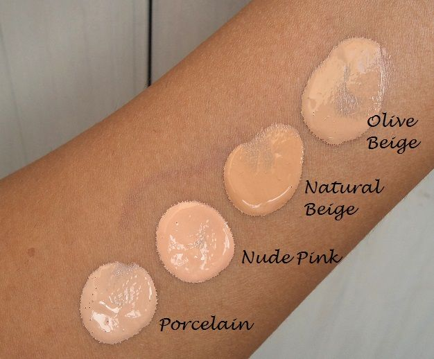 Oriflame The One illuskin foundation review swatches all shades