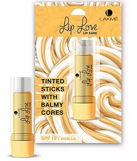 lakme-lip-love-lip-care-dual-core-balm-vanilla-review-price