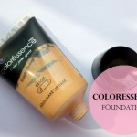 Coloressence Aqua Makeup Base Foundation Beige: Review and Swatches