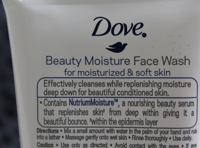 Dove-Beauty-Moisture-Face-Wash-ingredients