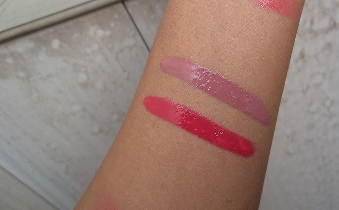 Faces-Ultime-Pro-Lip-Creme-Review-Swatches-fucshia-sparkler-nude-mojito