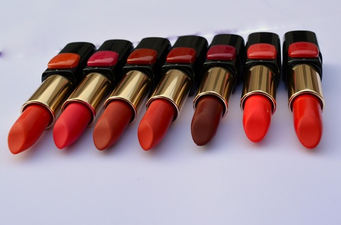 7 L'Oreal Color Riche Pure Reds Star Collection Lipsticks: Reviews ...
