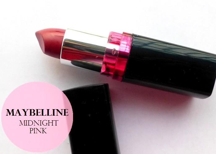 84a3f881f Maybelline ColorShow Lipstick Midnight Pink  Review