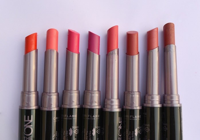 Oriflame-The-One-Colour-Unlimited-Lipsticks-Reviews-Swatches-Shades-india