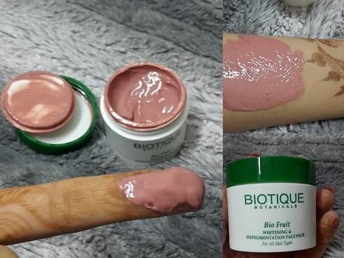 Biotique Bio Fruit Whitening And Depigmentation Face Pack
