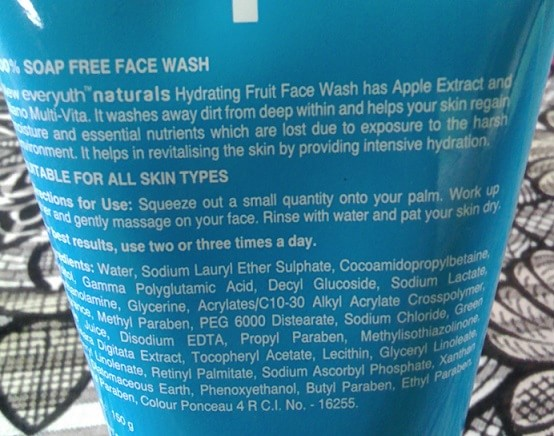 Everyuth-Naturals-Hydrating-Fruit-Face-Wash-Review-ingredients