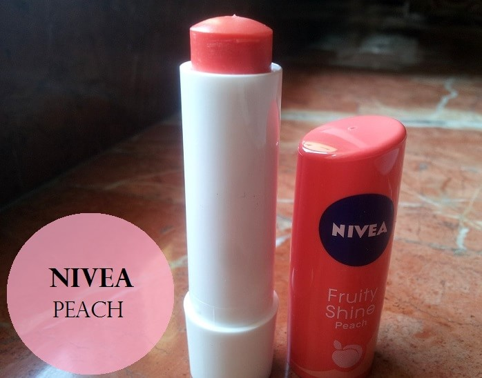 Nivea-Fruity-Shine-Lip-Balm-Peach-Review-Swatches-Price