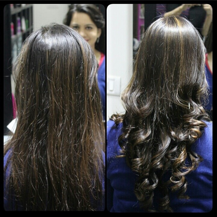 lakme-salon-hair-colour-with-golden-highlights-experience-before-after
