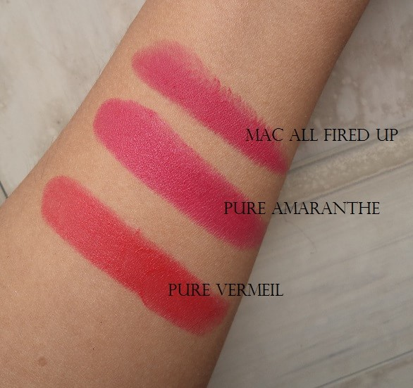loreal-paris-pure-amaranthe-pure-vermeil-lipstick-review-swatches-dupes