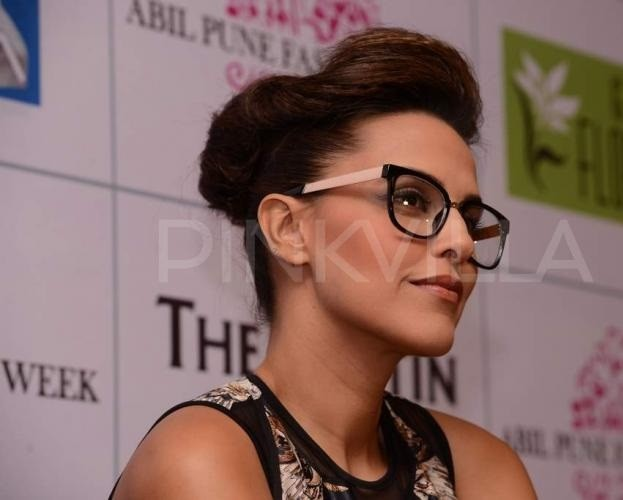 neha dhupia-wearing-nerd-glasses