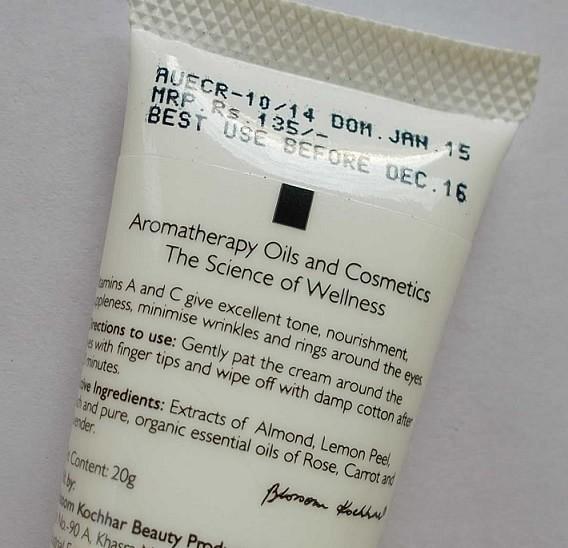 Aroma-Magic-Almond-Under-Eye-Cream-Review-ingredients