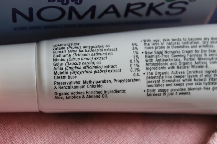 Bajaj-Nomarks-Cream-Review-ingredients
