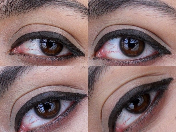 LOreal-Infallible-Lacquer-Liner-24HR-Eyeliner-Espresso-review-swatch-eyes