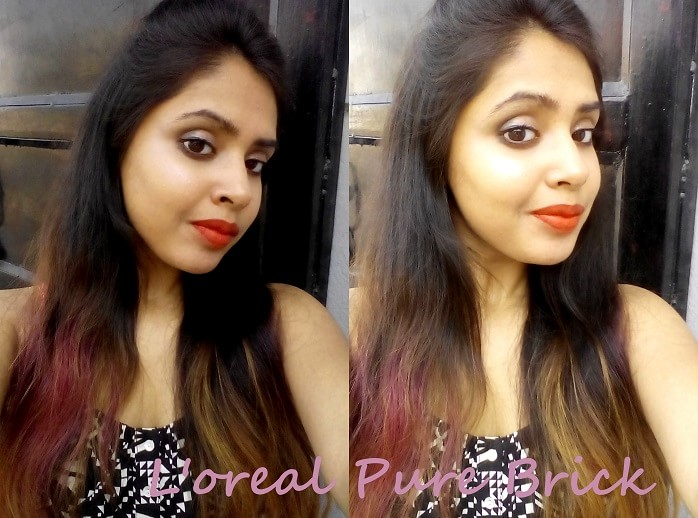 LOreal-Paris-Collection-Star-Pure-Brick-by-aishwarya-rai-bachhan-lipstick-review-swatches-on-face