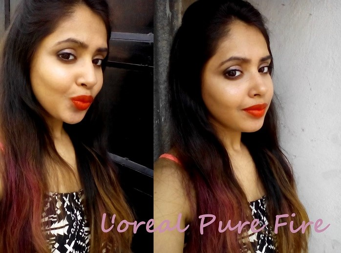 LOreal-Paris-Collection-Star-Pure-Fire-lipstick-review-swatches-on-face