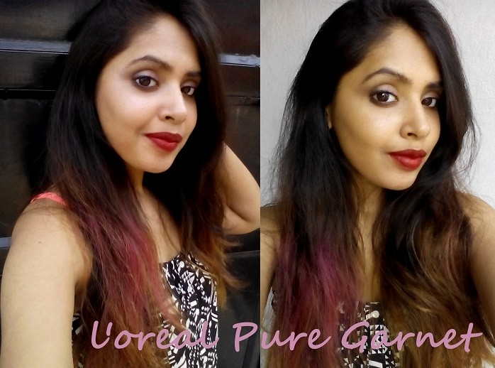 LOreal-Paris-Collection-Star-Pure-Garnet-by-sonam-kapoor-lipstick-review-swatches-on-face