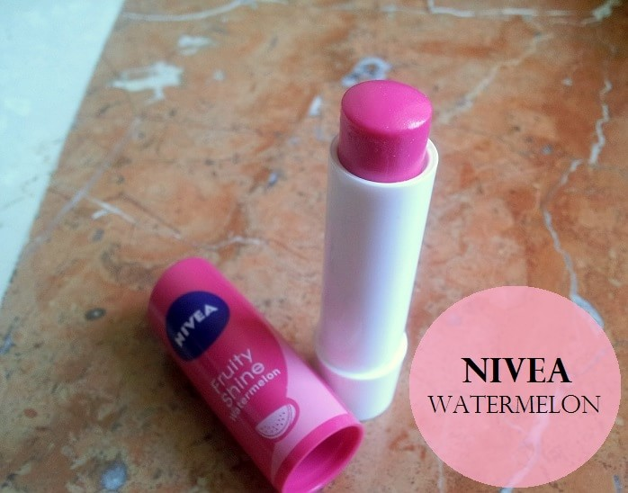 Nivea-Fruity-Shine-Lip-Balm-Watermelon-Review-swatches-price
