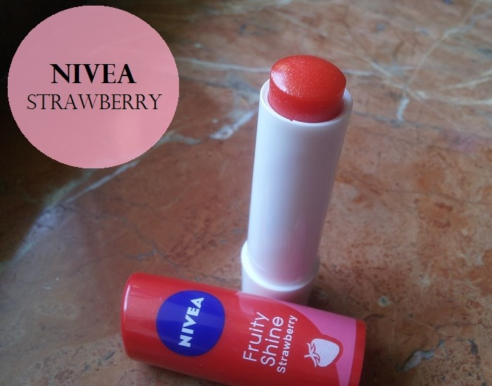 Nivea-Fruity-Shine-Strawberry-Lip-Balm-Review-swatches-price