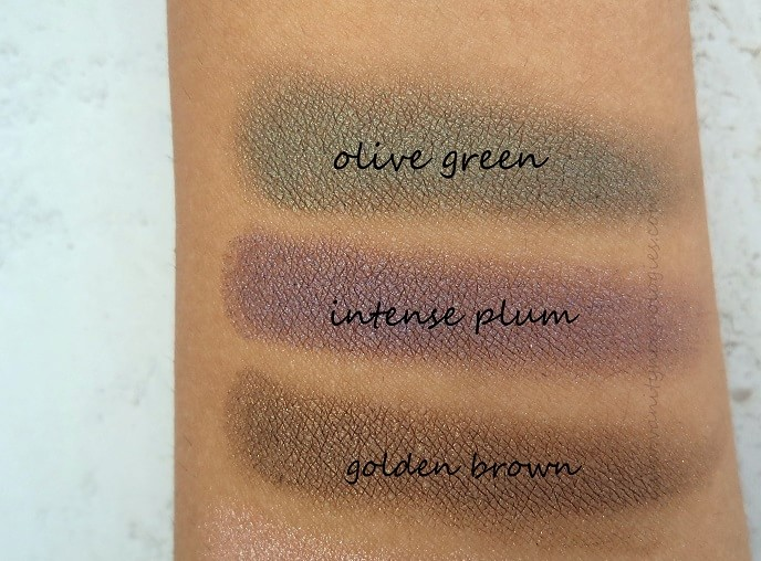 Oriflame-The-One-colour-impact-cream-eyeshadows-reviews-olivegreen-intenseplum-goldenbrown