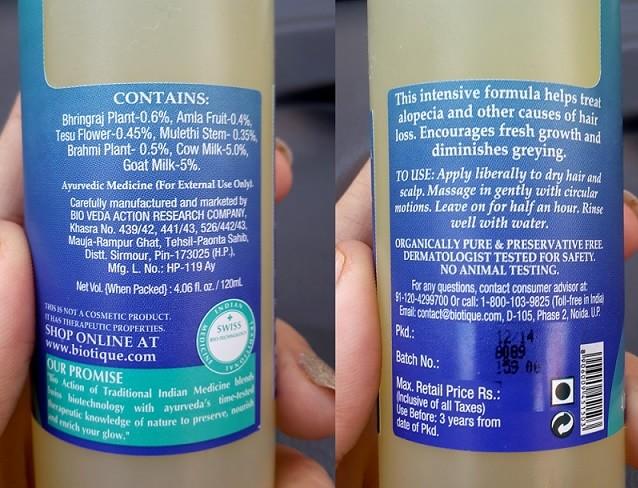 Biotique-Bio-Bhringraj-Fresh-Growth-Therapeutic-Oil-Review-ingredients