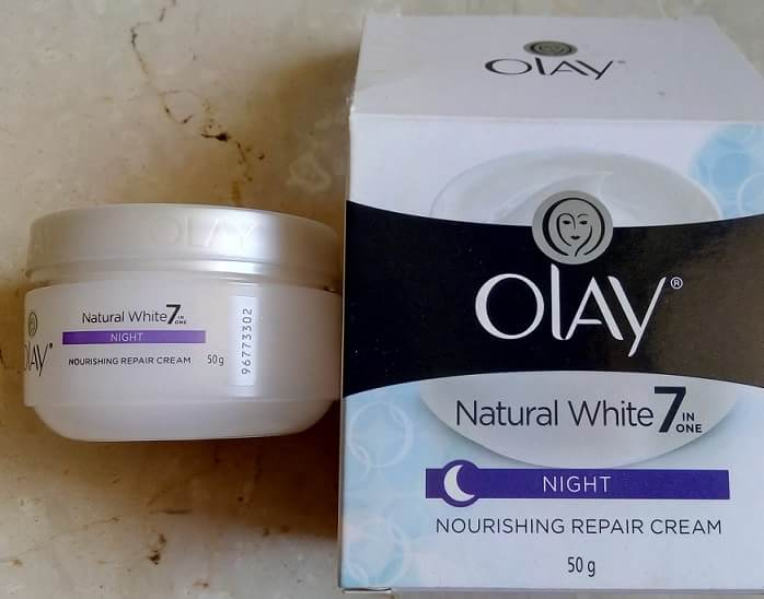 Olay-Natural-White-7-In-One-Night-Nourishing-Repair-Cream-Review