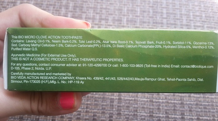 Biotique-complete-care-bio-micro-clove-action-toothpaste-review-ingredients