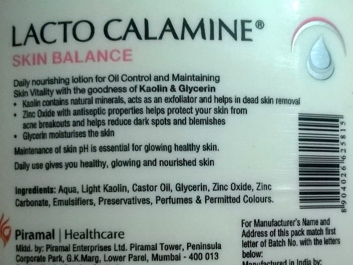 Lacto-Calamine-Skin-Balance-Daily-Nourishing-Lotion-Review-ingredients