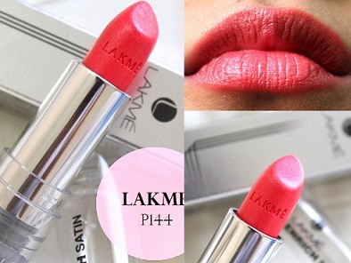Lakme Enrich Satin Lip Color P164: Review, Swatches, PriceLakme Lipstick Shade Card With Shade Number With Price