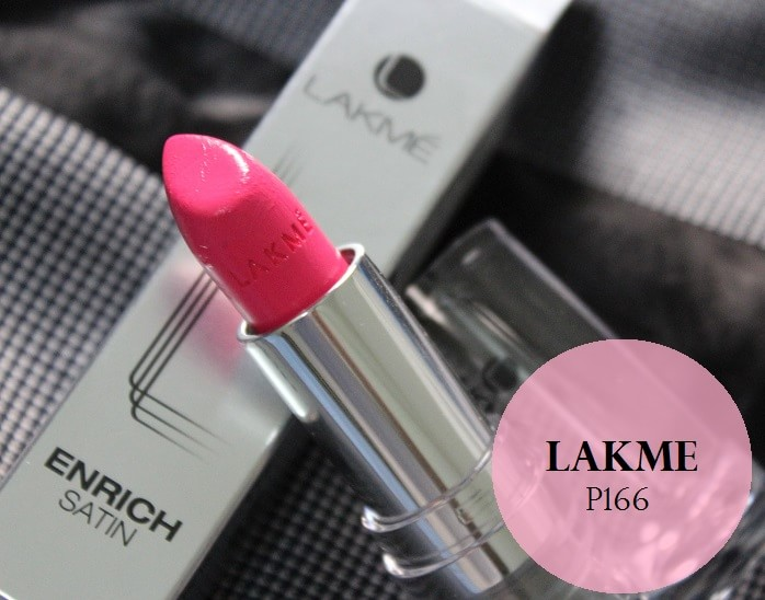 Lakme-Enrich-Satin-Lipstick-P166-Review-Swatches-price