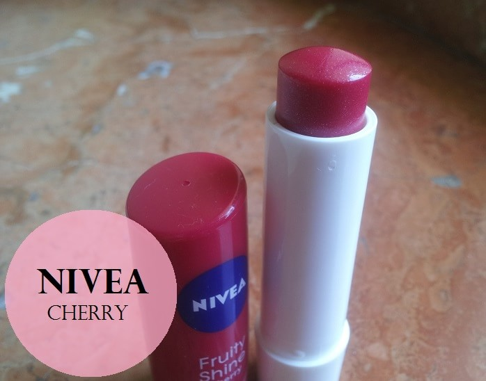 Nivea-Fruity-Shine-Lip-Balm-Cherry-Review-Swatches-price