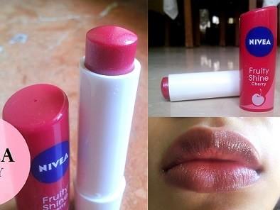 Nivea Fruity Shine Lip Balm Cherry: Review, Swatches, Price