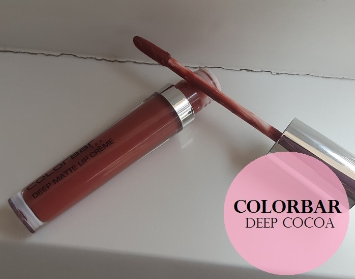 Colorbar-Deep-Matte-Lip-Creme-Deep-Coco-Review-Swatches-price
