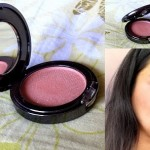 Faces Glam On Powder Blush Review, Swatches: Sandalwood 2