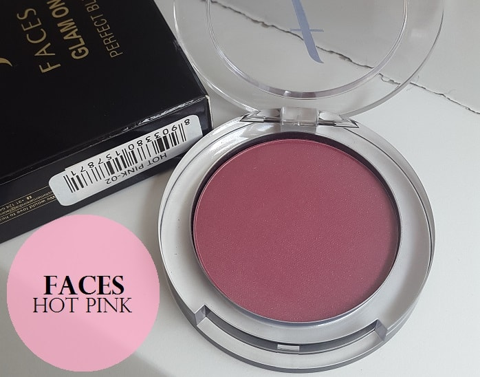 Faces-Glam-On-Perfect-Blush-Hot-Pink-Review-Swatches-price