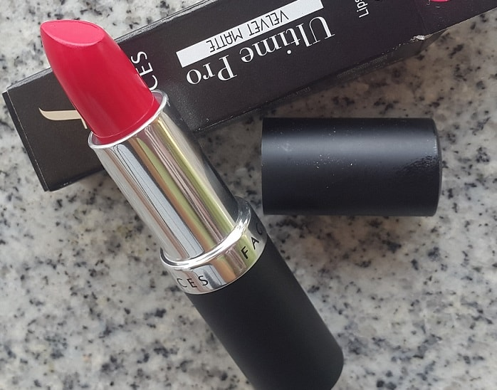 Faces-Ultime-Pro-Velvet-Matte-Lipstick-Pinked-Out-Review