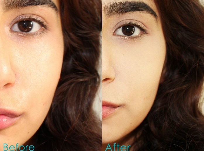 Loreal-Paris-Infallible-24H-Powder-Foundation-Review-Swatch-on-face-before-after