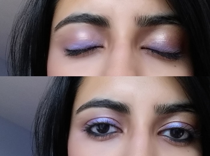 Inglot-Eye-Shadow-Pearl-438-review-swatch-eyes