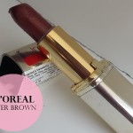 L'Oreal Paris Color Riche Lipstick Review, Swatches: Fever Brown