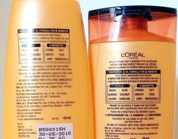 Loreal-paris-6-Oil-Nourish-Shampoo-Conditioner-Review-ingredients