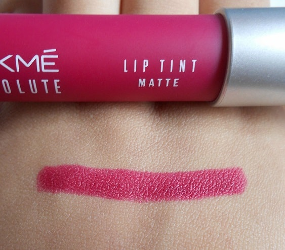 Lakme-Absolute-Magenta-Magic-Lip-Tint-Matte-Review-swatches